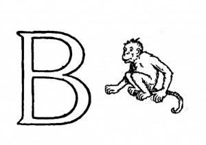 Raidė B- beždžionėlė
