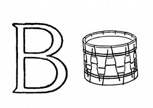 Raidė B - būgnas
