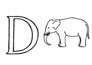 Raidė D- dramblys