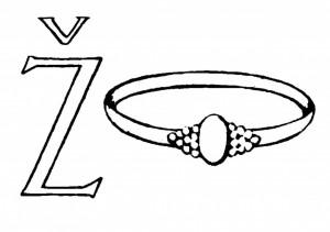 Raidė Ž- Žiedas