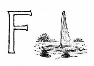 Raidė F-Fontanas
