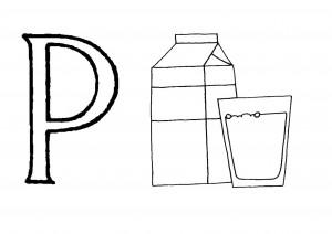 Raidė P- Pienas