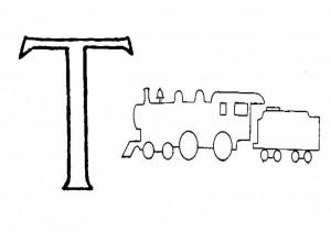 Raidė  T- Traukinys
