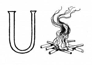 Raidė U- Ugnis