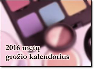 2016 metu grozio kalendorius