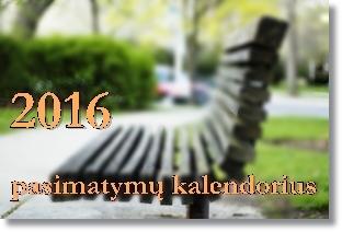 2016 metu pasimatymu kalendorius