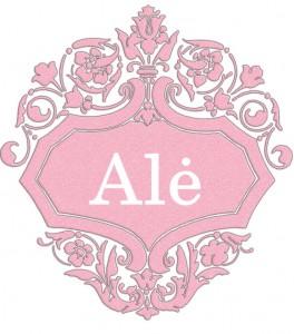 Vardas Alė