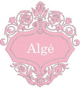 Vardas Algė