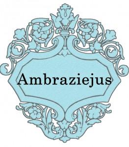 Vardas Ambraziejus