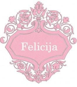 Vardas Felicija