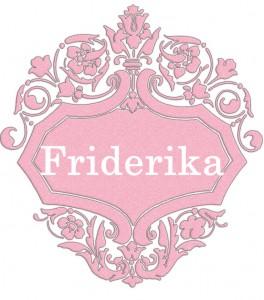 Vardas Friderika