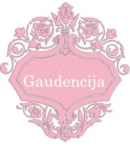 Vardas Gaudencija