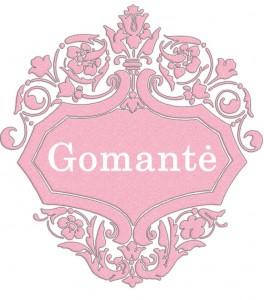 Vardas Gomantė
