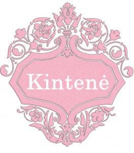 Vardas Kintenė