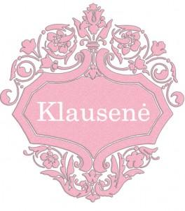 Vardas Klausenė
