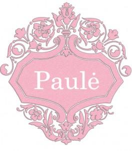 Vardas Paulė