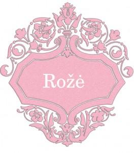 Vardas Rožė