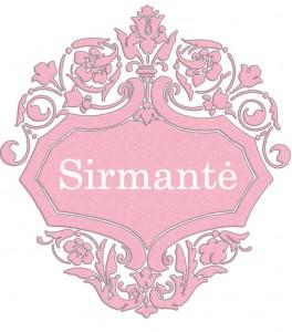 Vardas Sirmantė